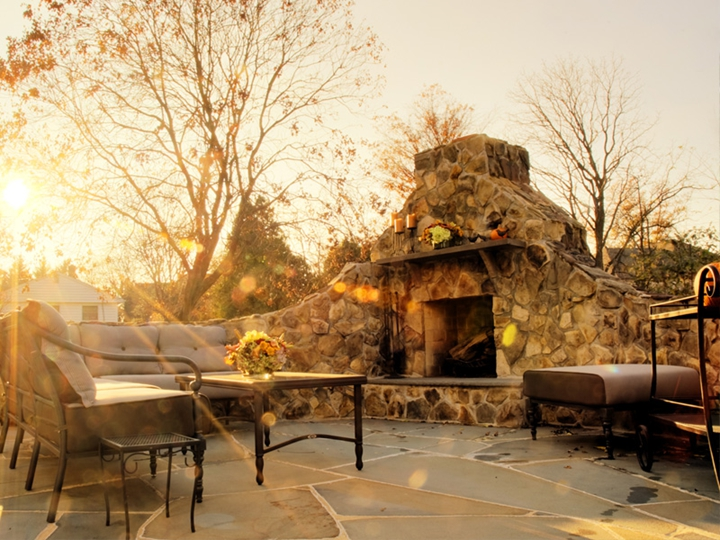bright construction stone  inc Outdoor Stone Fireplaces Interior Stone Fireplace Patio